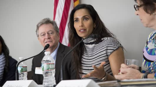 "Padma Lakshmi, television personality and host of ""Top Chef,""  testifying on Capitol Hill about endometriosis"