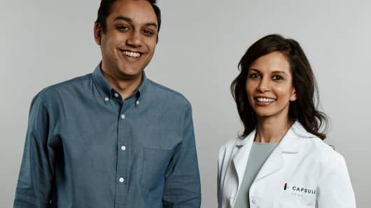 Eric Kinariwala, founder and CEO of Capsule, and Sonia Patel, chief pharmacist, Capsule.
