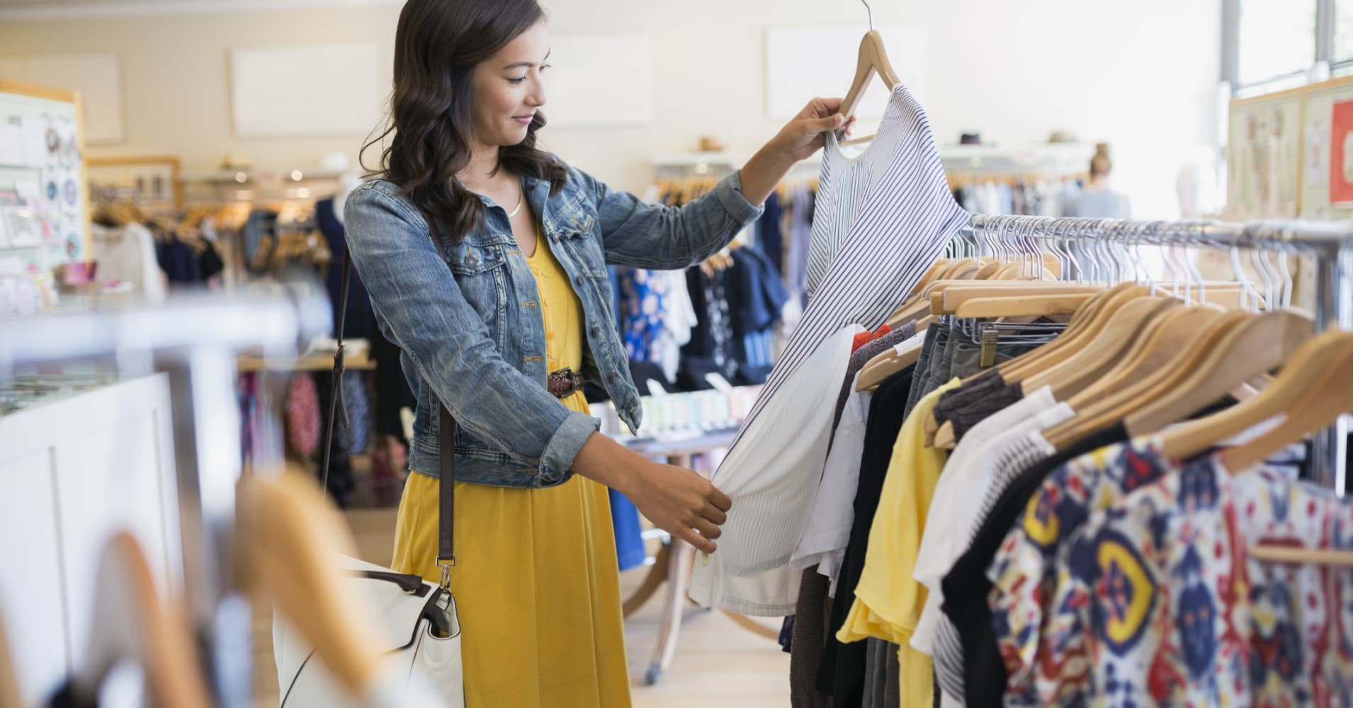 more consumers saying  why buy clothing when you can rent or trade it