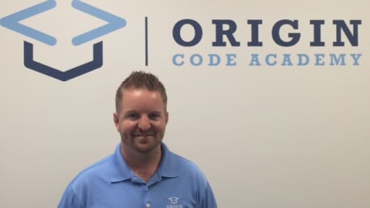 Jeff Winkler launched Origin Code Academy in San Diego last year to try to cultivate and keep local talent in the city.