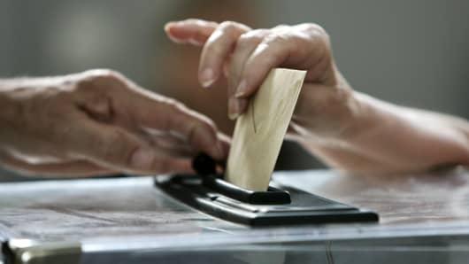 Voting box, ballot
