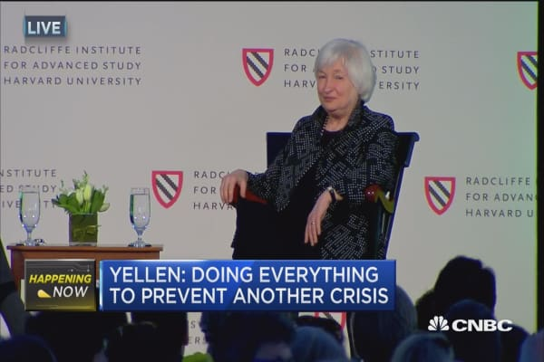 Yellen: Economy is continuing to improve