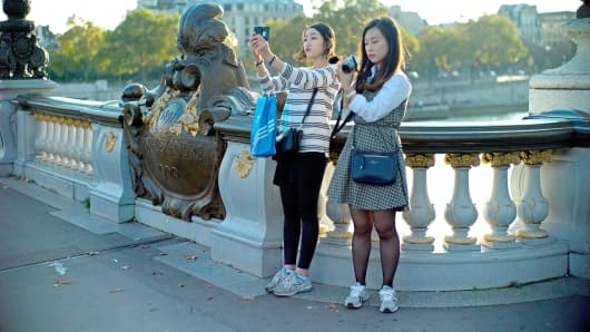 Paris has become the most popular holiday destination for China's growing affluent middle classes.
