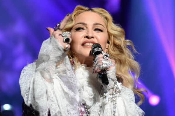 Madonna performs a tribute Prince onstage during the 2016 Billboard Music Awards at T-Mobile Arena on May 22, 2016 in Las Vegas, Nevada.