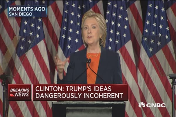 Clinton: Trump's ideas dangerously incoherent