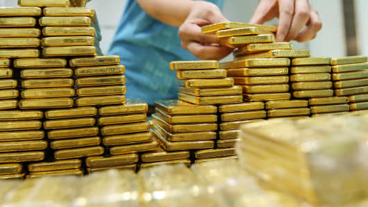 Stack of Gold Bars, high, raise, rise