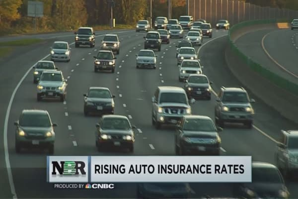 Auto insurance rates on the rise