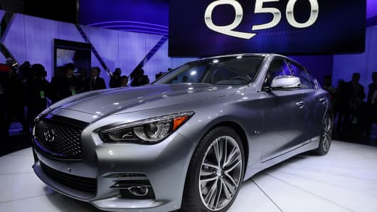 The Nissan Motor Co. has recalled 60,000 Infiniti Q50 sedans over steering issue.