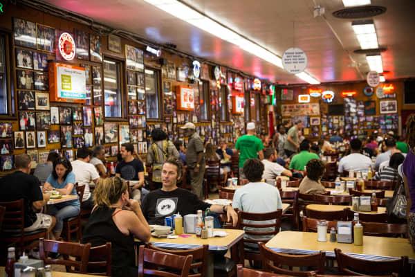 Katz's Deli, the iconic New York deli, in New York City.