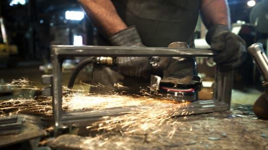 Iron welder in Pittsburgh Pennsylvania