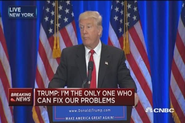Trump: I'm the only one who can fix our problems