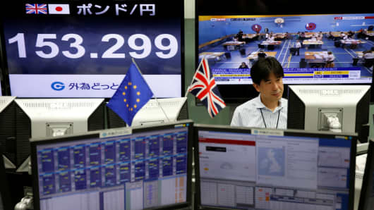 Bank shares slide as Brexit turmoil hits world stocks