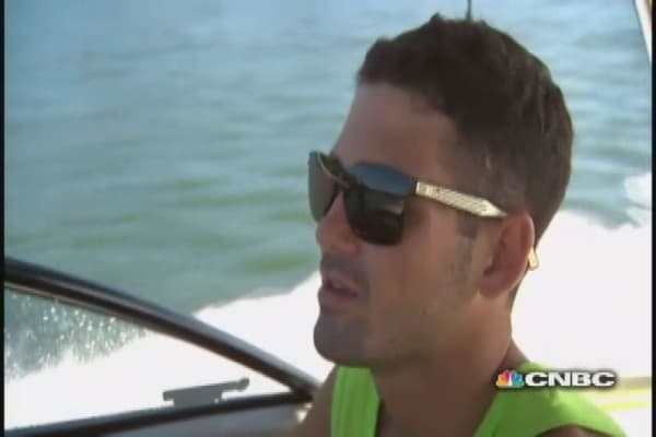 Banker ditches Wall Street, hits the wakeboard