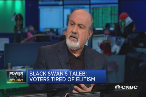 Black Swan's Taleb: Voters tired of elitism