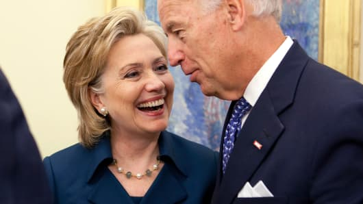 Hillary Clinton and Joseph Biden