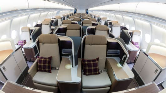 The interior of the RAF Voyager.