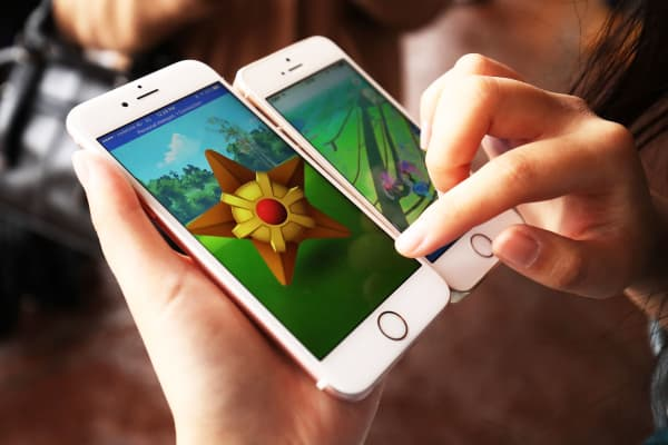 Pokemon Go on Apple iPhones
