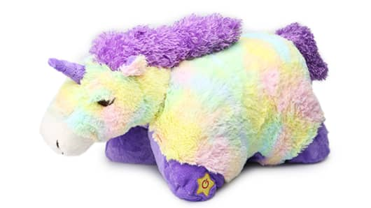 This $2 Light-Up Jumbo Sparkling Unicorn Glow Pet is Hollar's best-selling item.
