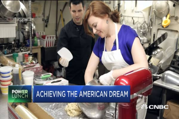 achieving the american dream for a typical american Most americans know that the american dream, as outlined by the founding   what the american dream promises is not a right to happiness, but a right to  achieve  the typical employee spends at least one-third of their life at work, and  that.