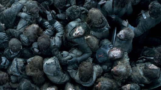 Kit Harington as Jon Snow featured in the Game of Thrones season 6, episode 9, Battle of the Bastards
