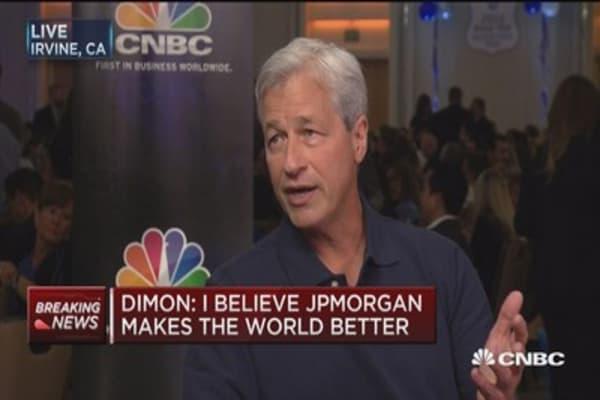 Dimon: JP Morgan makes it a better world
