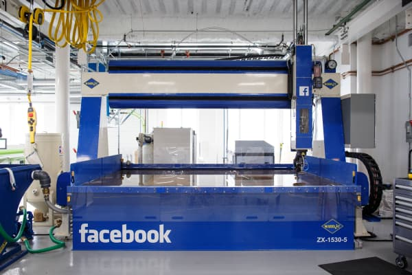 Inside the Facebook hardware lab in Menlo Park, Calif., which opened its doors on Aug. 2, 2016.