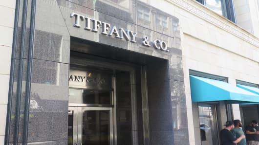 Tiffany & Co. store in Philadelphia, PA.