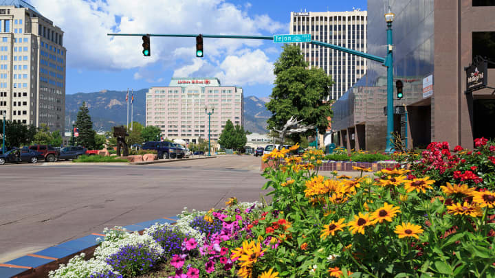 Tejon Street, Colorado Springs, Colorado.