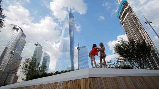 World Trade Center site in the Manhattan borough of New York