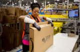 Amazon shipping center in Schertz, Texas.