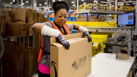 Amazon shipping center in Schertz, Texas