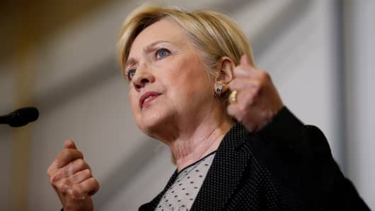 Democratic presidential nominee Hillary Clinton speaks at Futuramic Tool & Engineering in Warren, Michigan August 11, 2016.
