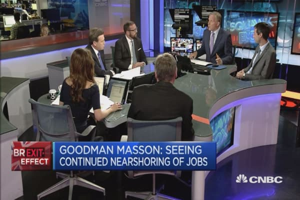 Jobs impact depends on outcome of exit negotiations: Goodman Masson