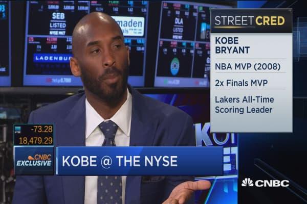 Kobe Bryant: No greater feeling than helping entrepreneurs