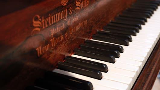 Steinway piano, keys