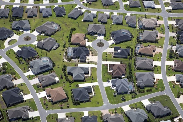 An aerial view of a retirement community in Central Florida