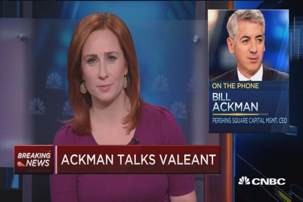 Valent to blame for fund's poor performance: Ackman