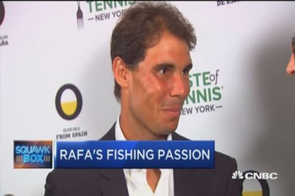 Dinner with tennis great Rafael Nadal