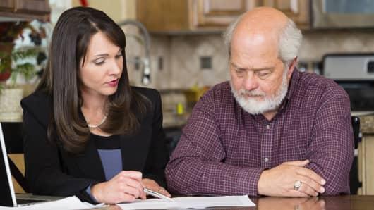 Will and testament, elderly man, Paperwork