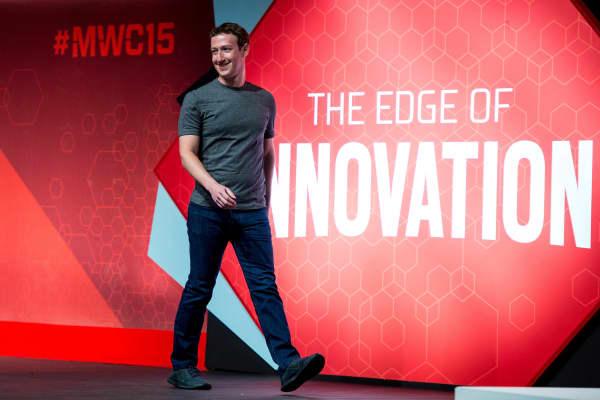 Founder and CEO of Facebook Mark Zuckerberg.