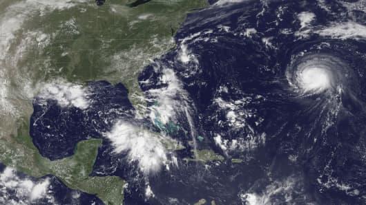 A satellite image taken August 29, 2016.