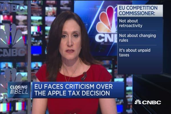 EU faces criticism over the Apple tax decision