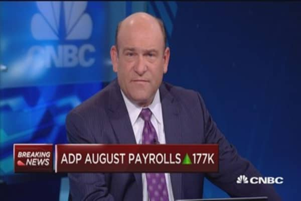 ADP August payrolls up 177K
