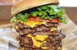 Wayback Burger's Triple Triple Burger
