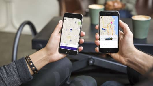 Lyft Application on cell phone