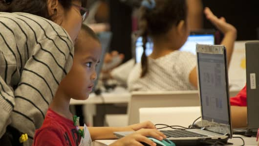 Saturday Kids, a coding academy for children, in Singapore.