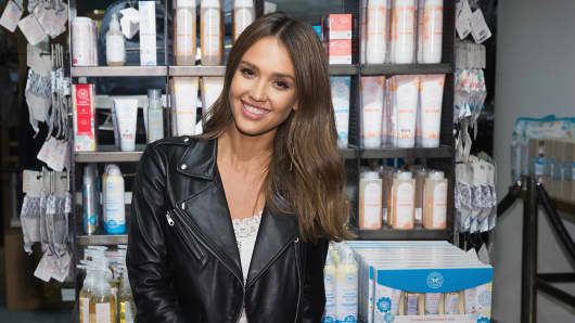 Actress and Honest Company co-founder Jessica Alba poses for a photo while promoting The Honest Company