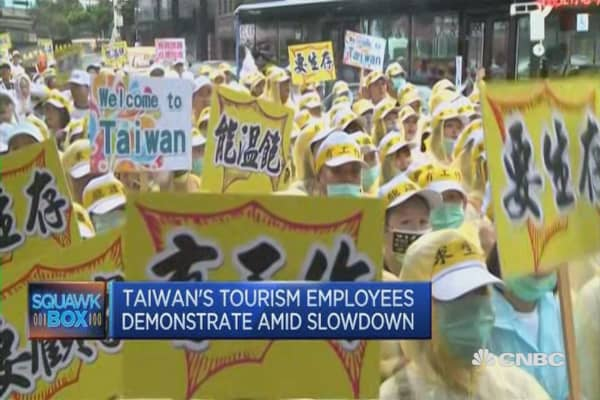 Tourism takes a hit in Taiwan