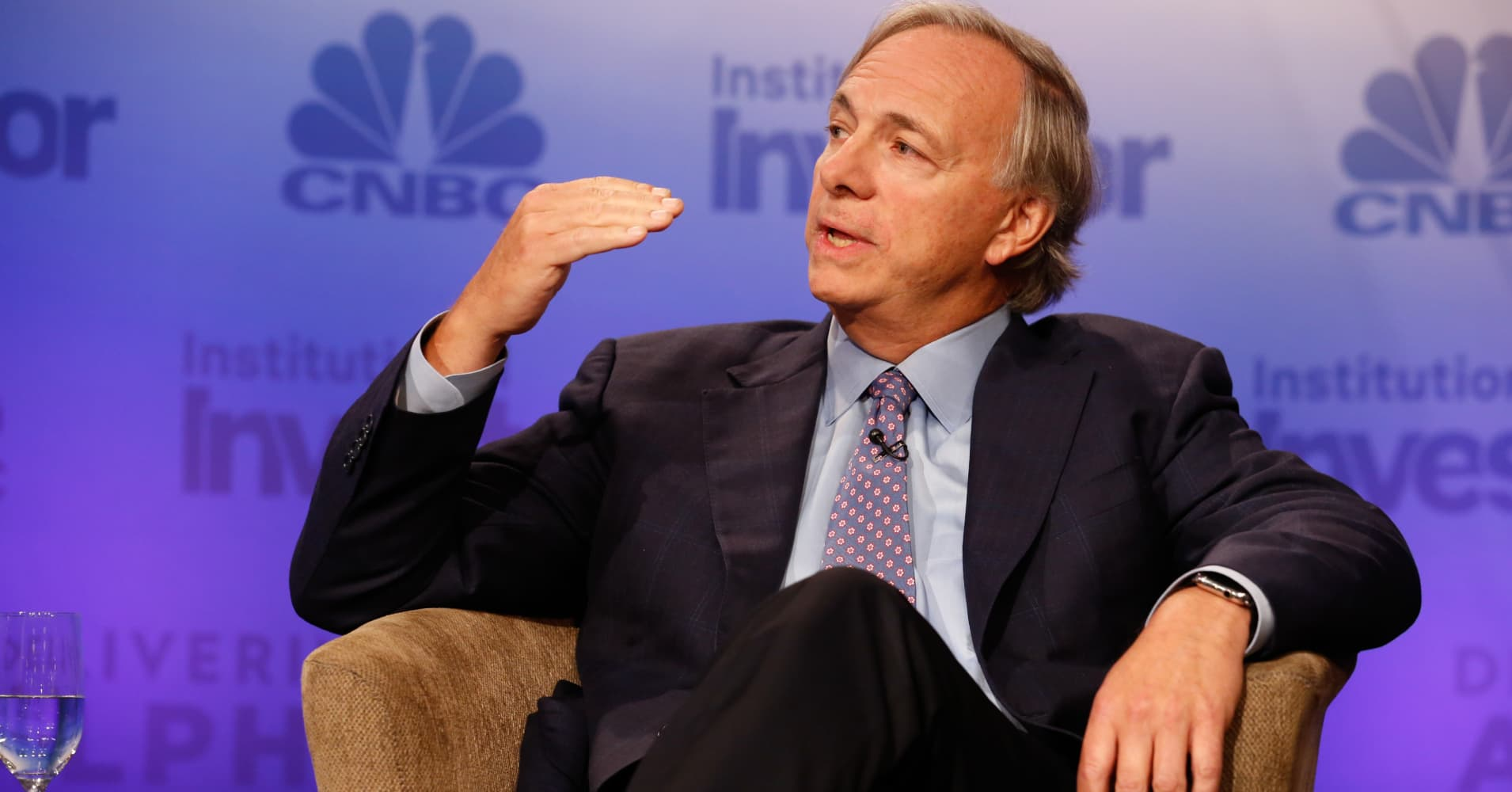 Ray Dalio speaking at the Delivering Alpha conference in New York on Sept. 13, 2016.