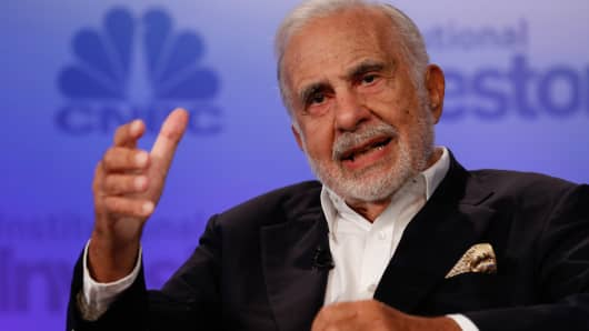 Carl Icahn speaking at Delivering Alpha in New York on Sept. 13, 2016.